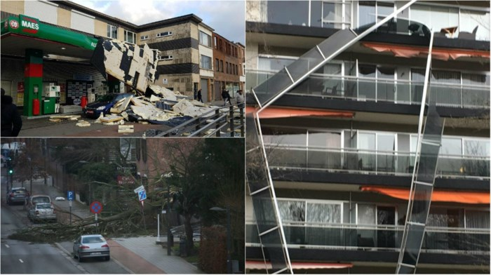 Antwerpen meet de schade op na de storm: meer dan 500 oproepen, vier gewonden