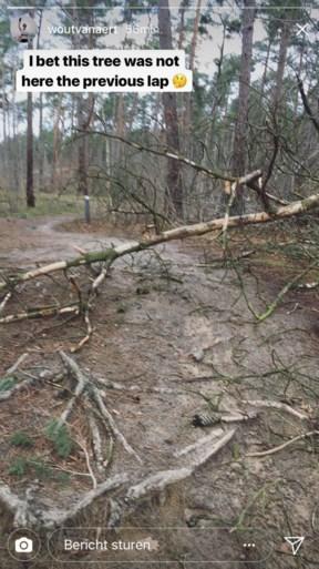 Storm bezorgt Van Aert extra hindernissen tijdens trainingstochtje