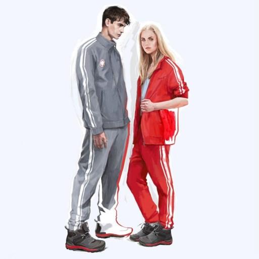 Russische atleten trekken in het grijs naar Winterspelen
