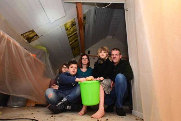"""Gezin heeft meer dan 70.000 euro schade na stormweer: """"Water liep ons huis binnen"""""""