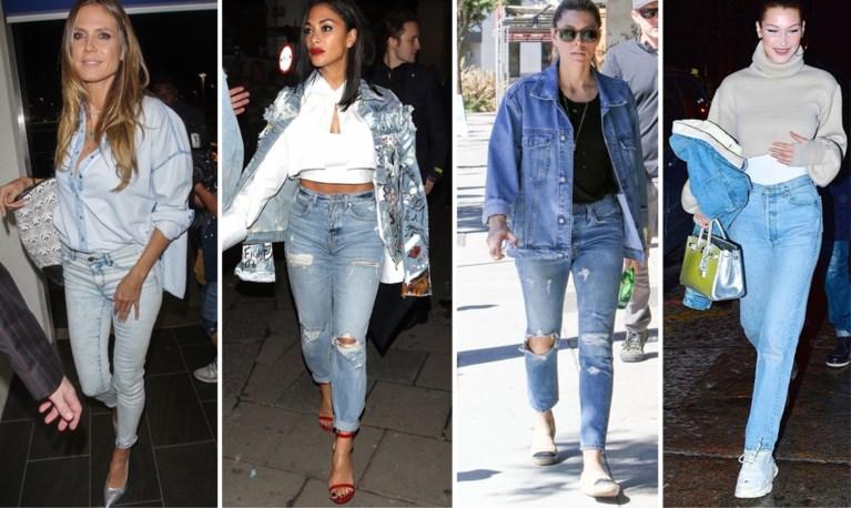 TREND. Jeans op jeans mag weer, deze sterren tonen hoe het stijlvol kan