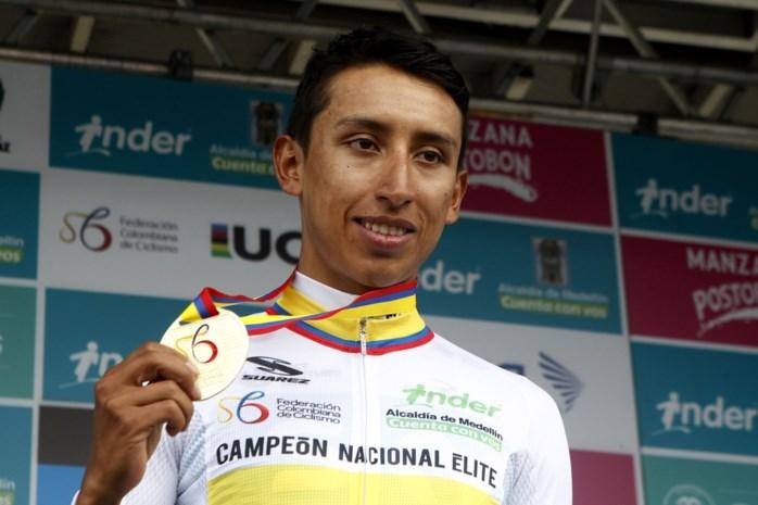 Egan Bernal is Colombiaans kampioen tijdrijden