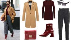 GET THE LOOK. De rode draad in de outfit van Victoria Beckham