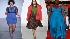 Minder plus size modellen op modeweek New York