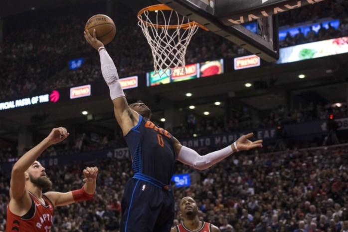 Toronto wordt afgetroefd door sterke Westbrook, ook Boston gaat onderuit in NBA