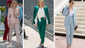 Trend in Cannes: actrices strak in het pak