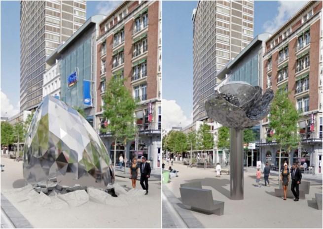 Spectaculair monument moest Antwerpse diamant in de kijker zetten, maar er lijkt niets van te komen