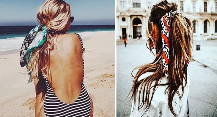 TREND. Draag eens een sjaal in je haar