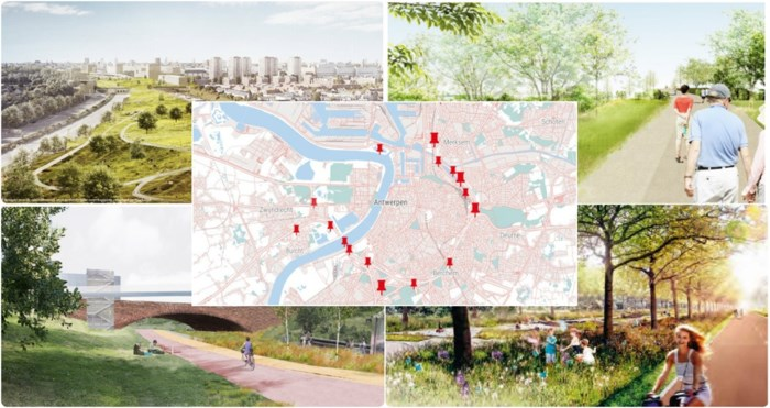 KAART. Dit zijn de 18 goedgekeurde projecten voor meer leefbaarheid rond de Antwerpse Ring