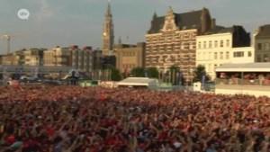 Antwerpen maakt zich op voor wedstrijd tegen Frankrijk