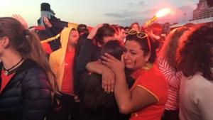 Wat een anticlimax: zo beleefde de massa volk op de Scheldekaaien de wedstrijd van de Rode Duivels