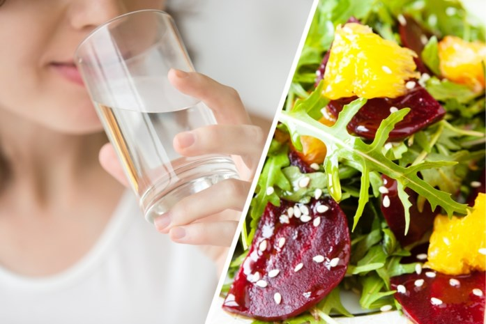 Wie moeite heeft om twee liter water per dag te drinken: in dit voedsel zit er al heel wat
