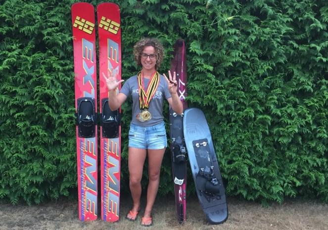 Lokaal waterskitalent  is Belgisch kampioen