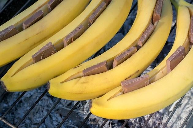 Populair voor op de barbecue: banaan met chocolade en Licor 43