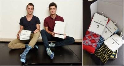 Kousen van student-ondernemers Robin (21) en Sam (22) veroveren winkels