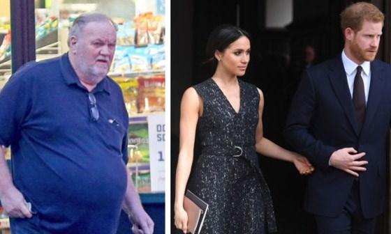 Vader van Meghan Markle hing de telefoon op na verhit gesprek met prins Harry