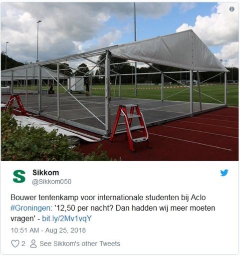 Buitenlandse studenten in Nederland verblijven noodgedwongen in tentenkamp