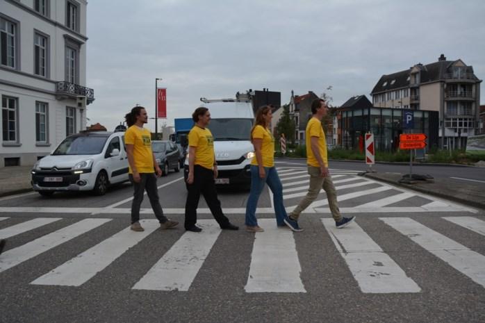 Vluchtelingenwerk Vlaanderen houdt ludieke actie in Mechelen