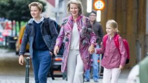 Ook de koningskinderen beleven hun eerste schooldag