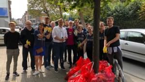 Open Vld Antwerpen verzamelt 100 kg zwerfvuil in één uur tijd