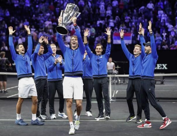 Zverev bezorgt Europa tweede zege op rij in Laver Cup, Goffin viert mee