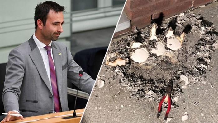 """Brandstichting bij woning N-VA-politicus: """"Mijn kinderen hebben echt schrik"""""""