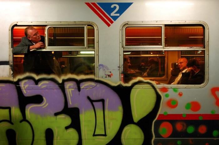 NMBS zoekt manier om graffiti snel te detecteren en te wissen