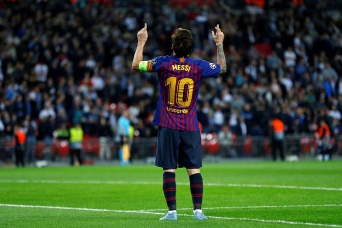Messi scoort opnieuw twee keer en is voorlopig topschutter in Champions League
