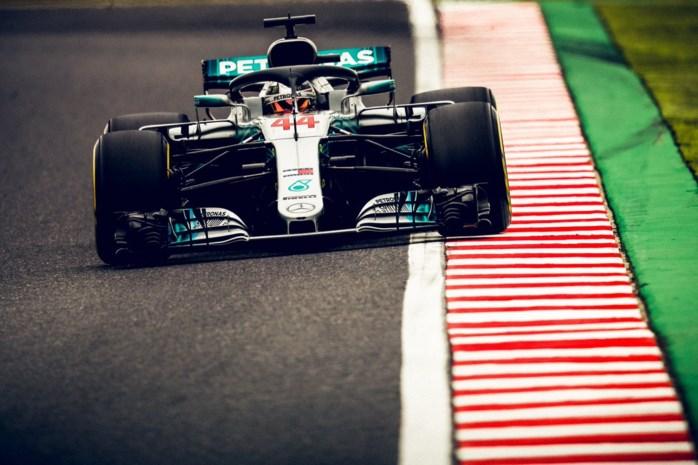 Hamilton op pole in Japan, Ferrari blundert met foute bandenkeuze