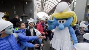 600 kinderen vieren 60ste verjaardag Smurfen in Comics Station