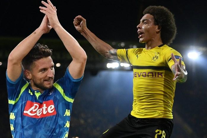 Mertens schenkt Napoli bijna stuntzege bij PSG, ook Witsel scoort belangrijke goal voor Dortmund