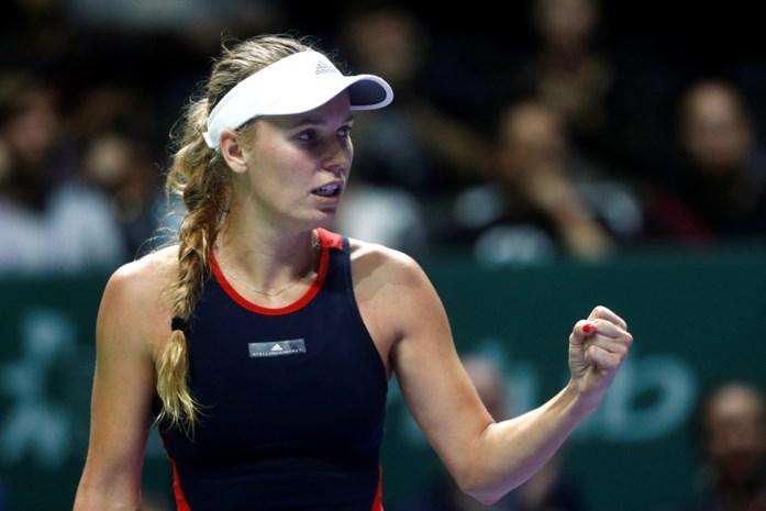 Caroline Wozniacki heeft uitleg voor uitschakeling in WTA Finals: ze kampt sinds zomer met auto-immuunziekte