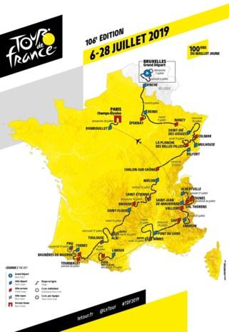 Het parcours van 106e Tour de France: etappe per etappe van Brussel naar Parijs
