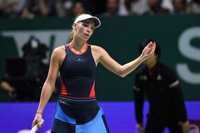 Titelverdedigster Caroline Wozniacki uitgeschakeld op WTA Finals