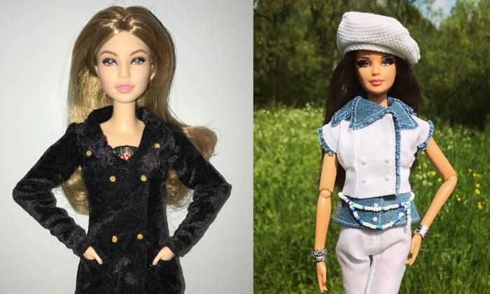 Barbie in Burberry of Chanel: Antwerpse maakt designeroutfits op poppenmaat