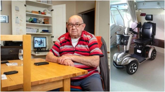 """Dieven stelen elektrische scooter van Hugo (78): """"Zonder ben ik verplicht thuis te blijven"""""""