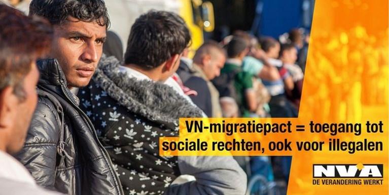 Vlaams Belang kopieert verwijderde en omstreden N-VA-campagne