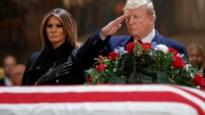 Trump brengt laatste groet aan oud-president George H.W. Bush