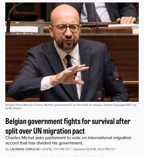 """Regeringscrisis ook in het buitenland in het nieuws: """"België op rand van instorten"""""""