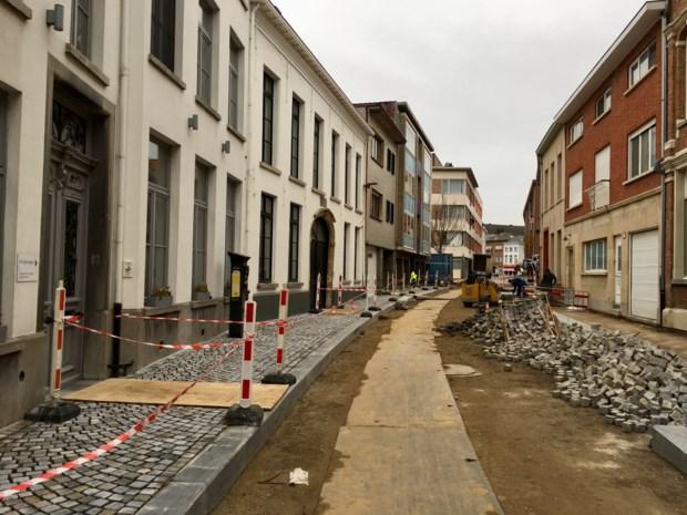 Vernieuwde Augustijnenstraat krijgt stilaan vorm
