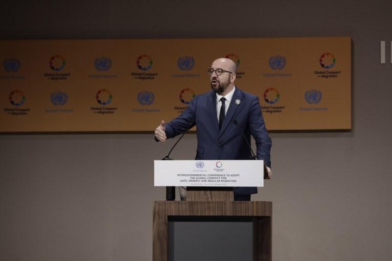 """Premier houdt korte maar felle toespraak in Marrakesh: """"Mijn land zal aan de juiste kant van de geschiedenis staan"""""""