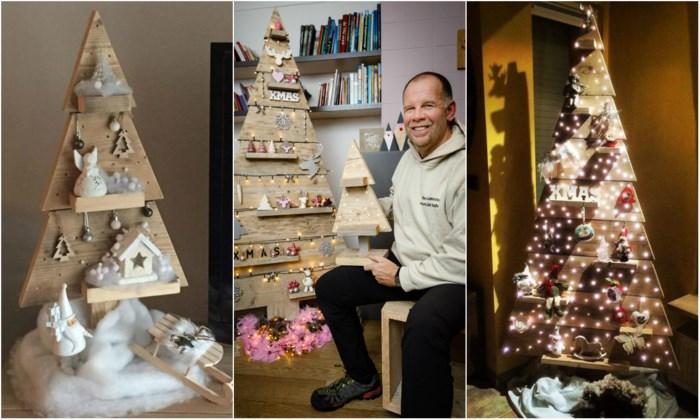 """Schrijnwerker maakt houten kerstbomen: """"Ideaal voor wie geen uren wil besteden aan de boom versieren"""""""