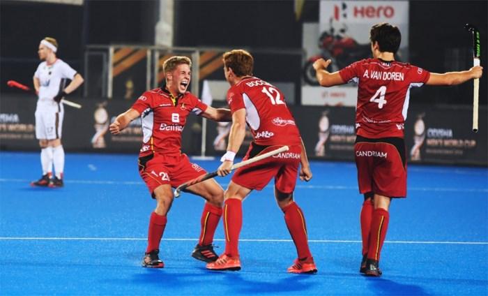 """Red Lions kloppen grootmacht Duitsland en mogen naar halve finale WK hockey: """"Een grootse dag"""""""