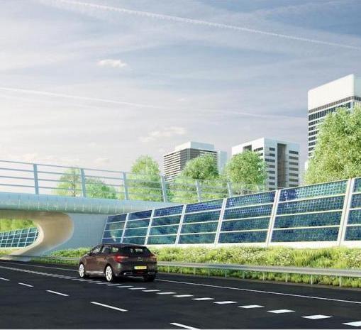 Geluidsschermen langs E17 moeten energie opwekken