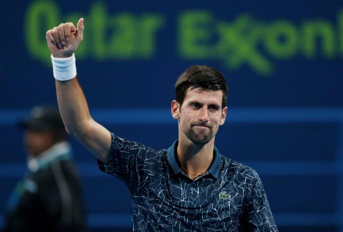 Novak Djokovic neemt eerste horde probleemloos in Doha