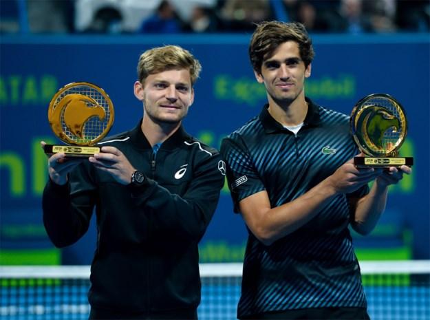 David Goffin verovert op ATP-toernooi van Doha eerste dubbeltitel