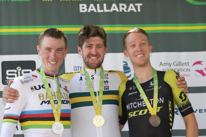 Wereldkampioen tijdrijden Rohan Dennis geklopt op Australisch kampioenschap door Luke Durbridge