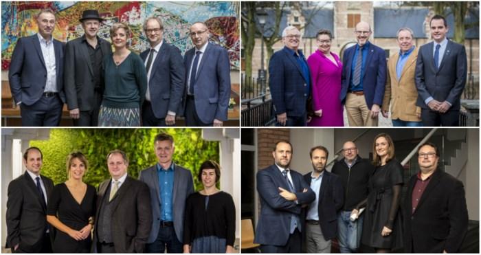 IN BEELD. Dit zijn alle burgemeesters en schepenen in de negen Antwerpse districten