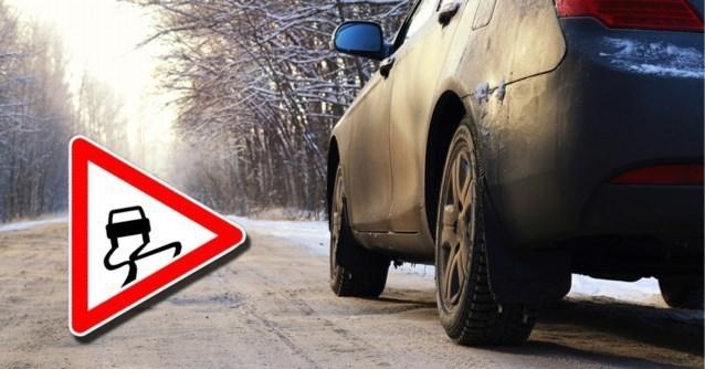 """Opnieuw waarschuwing voor code geel voor gladde wegen: """"Wees waakzaam"""""""
