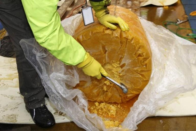 Gangsters op heterdaad betrapt bij overladen partij cocaïne: drugs zat verstopt in fruitpulp